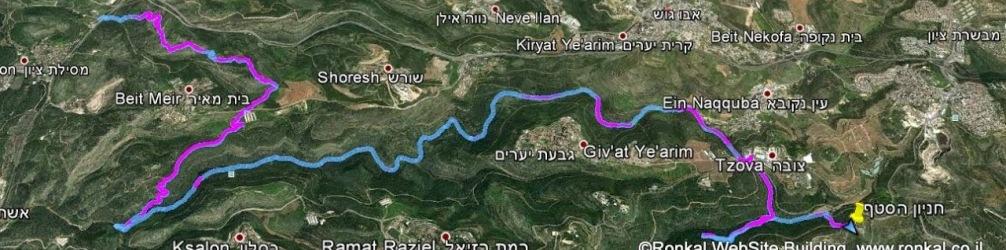 טיול שביל ישראל ממסילת ציון לסטף