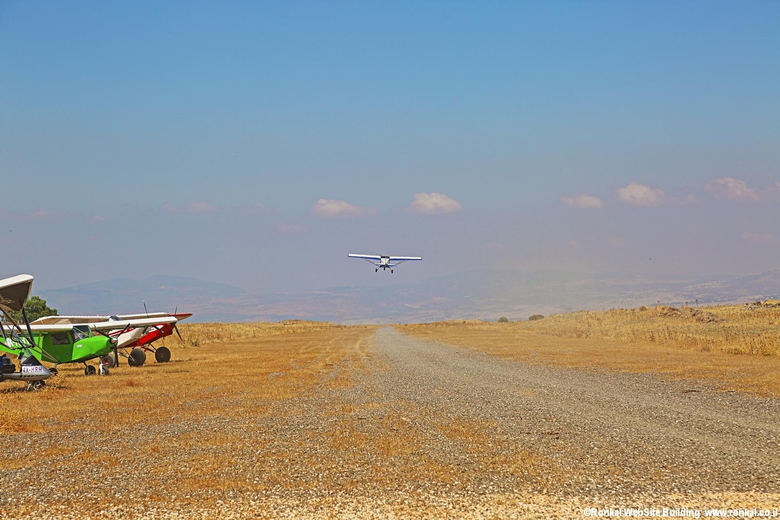 טיול טיסה לרמת הגולן ב אולטרלייט