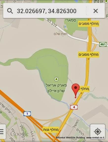 park_ariel_sharon_map